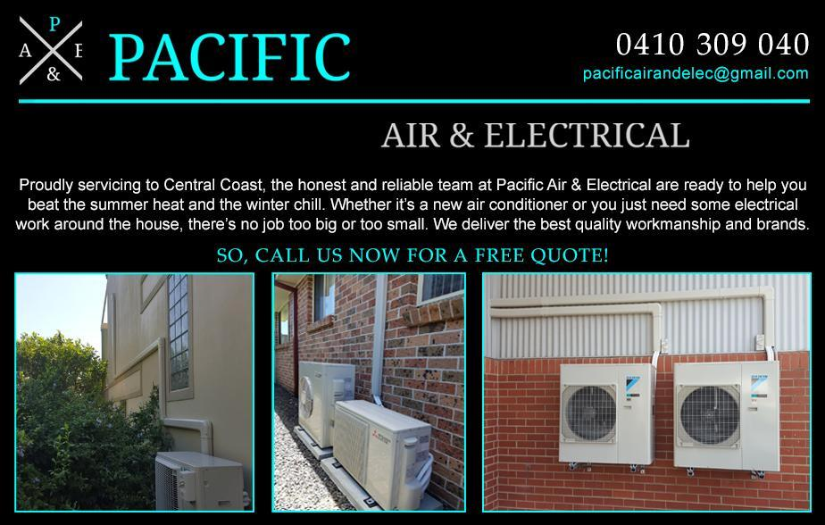 Pacific Air & Electrical Call - 0410 309 040  Air Conditioning Central Coast | Ducted Air Conditioning Central Coast