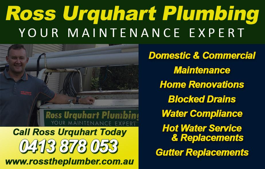 Ross Urquhart Plumbing- 0413 878 053  Plumber- Scarborough, Redcliffe, Margate, Clontarf, North Lakes, Murrumba Downs, Mango Hill, Narangba