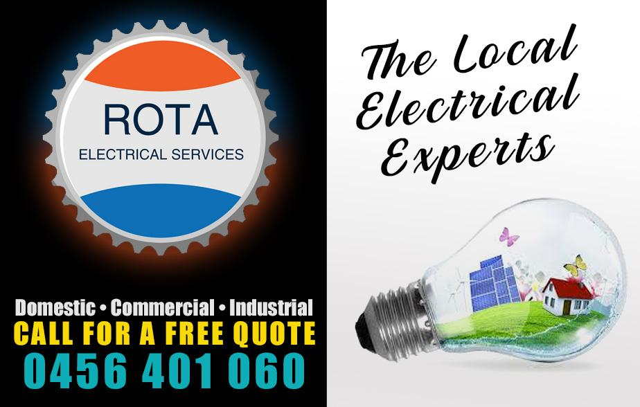 Rota Electrical- 0456 401 060  Electrician- Mackay